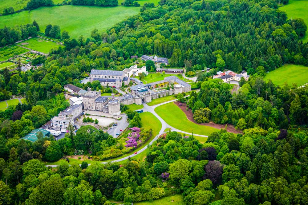 Glenstal Abbey Aerial View   nyjungcenter.org