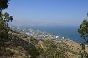 Sea of Galilee view of Tiberias